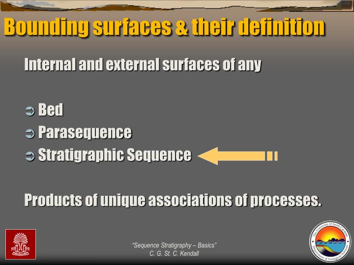 Bounding surfaces & their definition