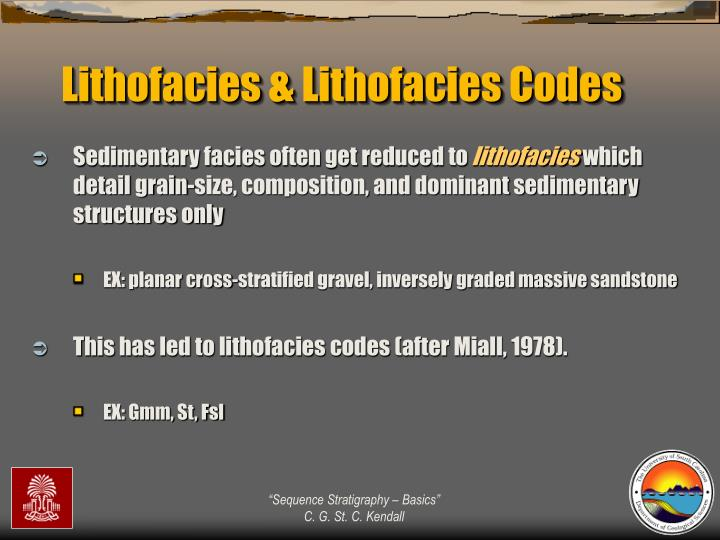 Lithofacies & Lithofacies Codes
