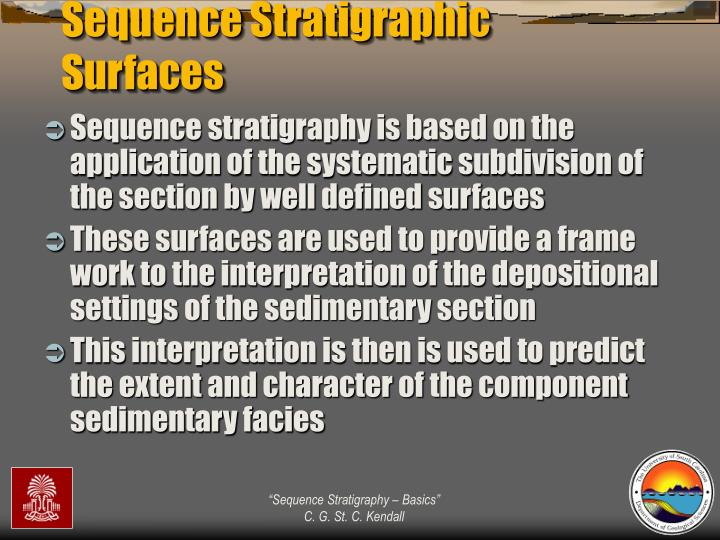Sequence Stratigraphic Surfaces