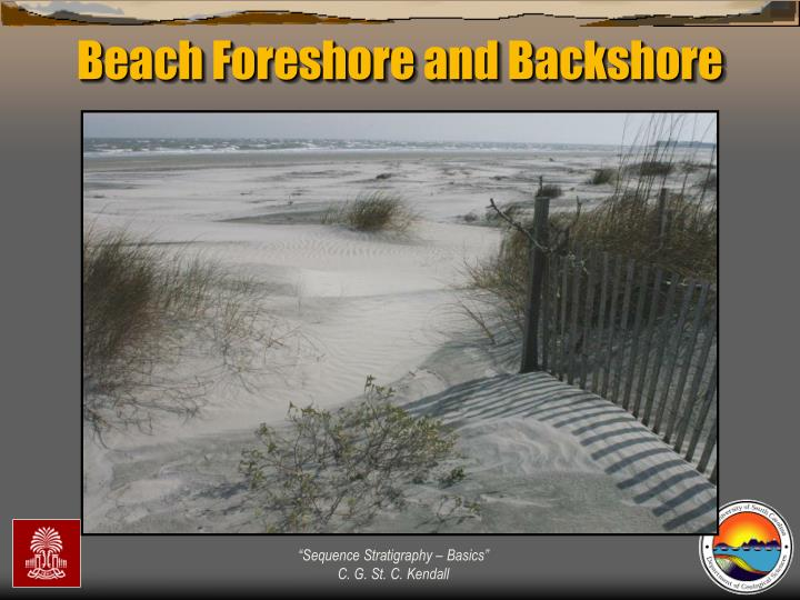 Beach Foreshore and Backshore