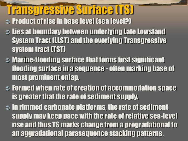 Transgressive Surface (TS)