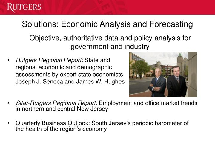 Solutions: Economic Analysis and Forecasting