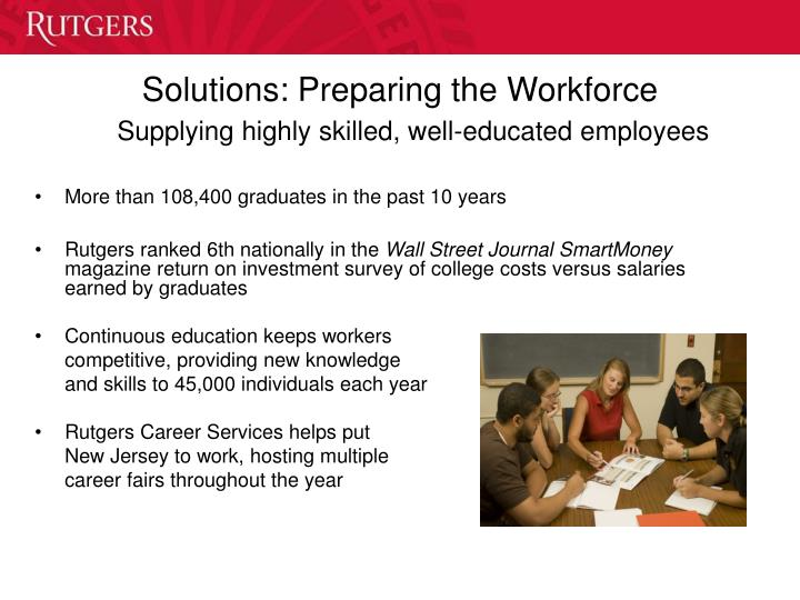 Solutions: Preparing the Workforce