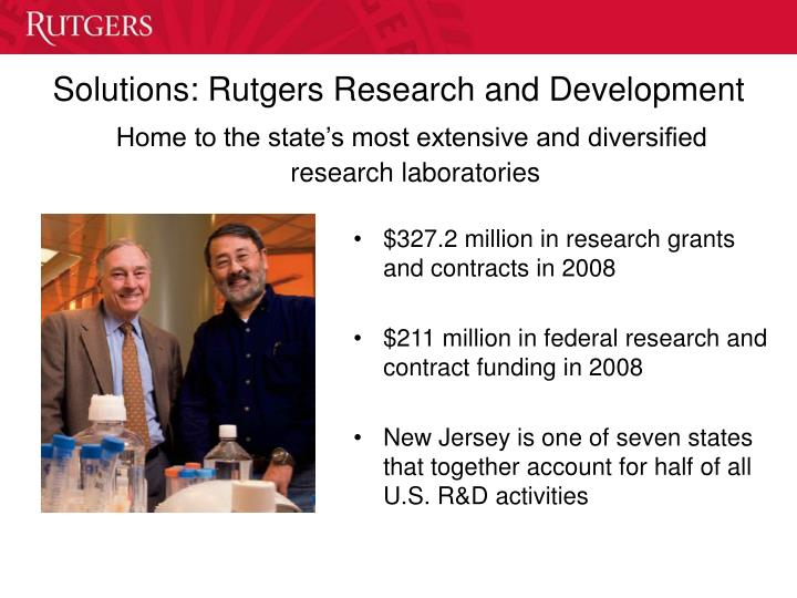 Solutions: Rutgers Research and Development