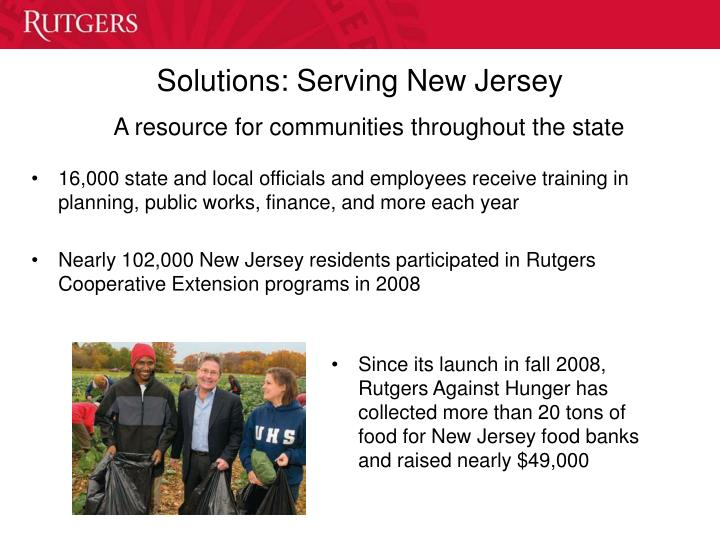 Solutions: Serving New Jersey