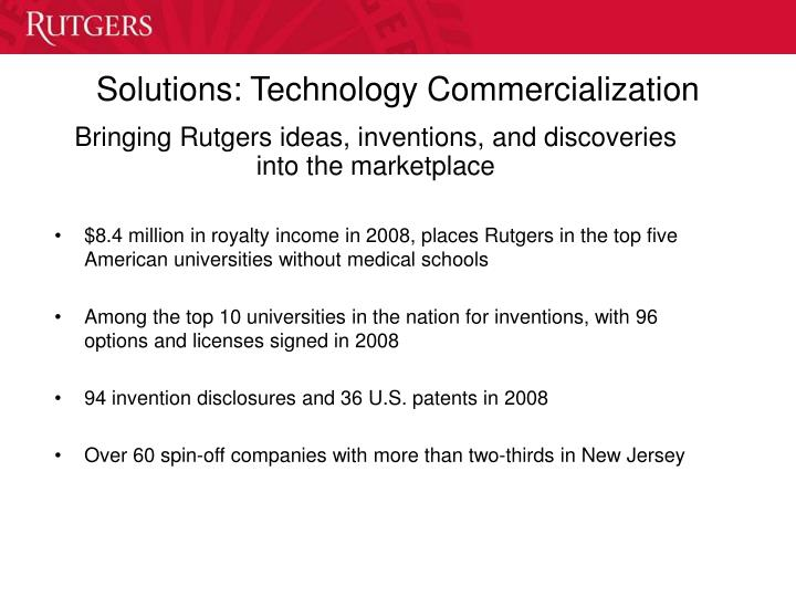 Solutions: Technology Commercialization