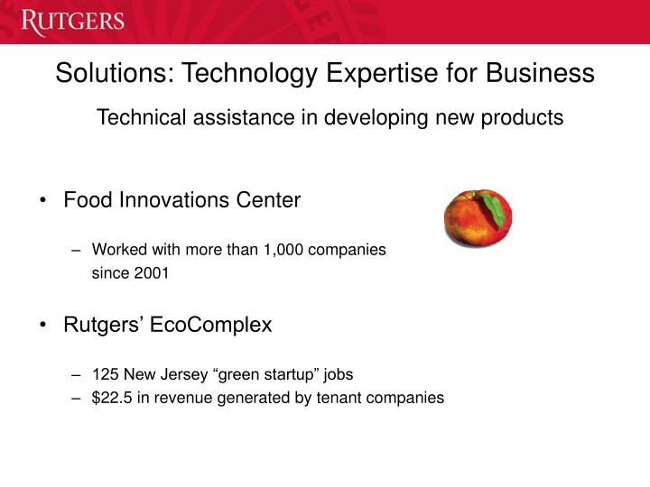 Solutions: Technology Expertise for Business