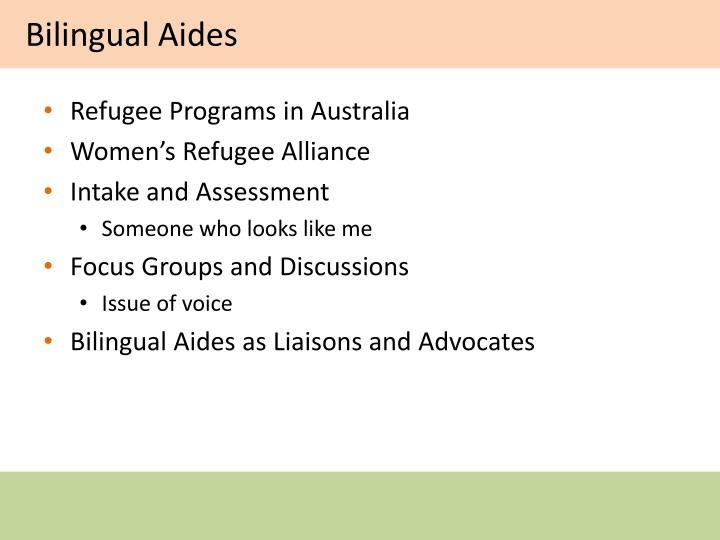 Bilingual Aides