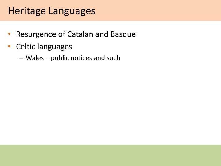 Heritage Languages