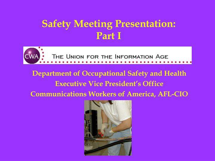 Safety Meeting Presentation: