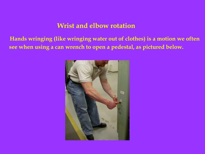 Wrist and elbow rotation