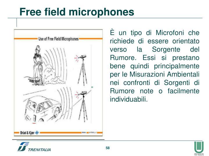 Free field microphones