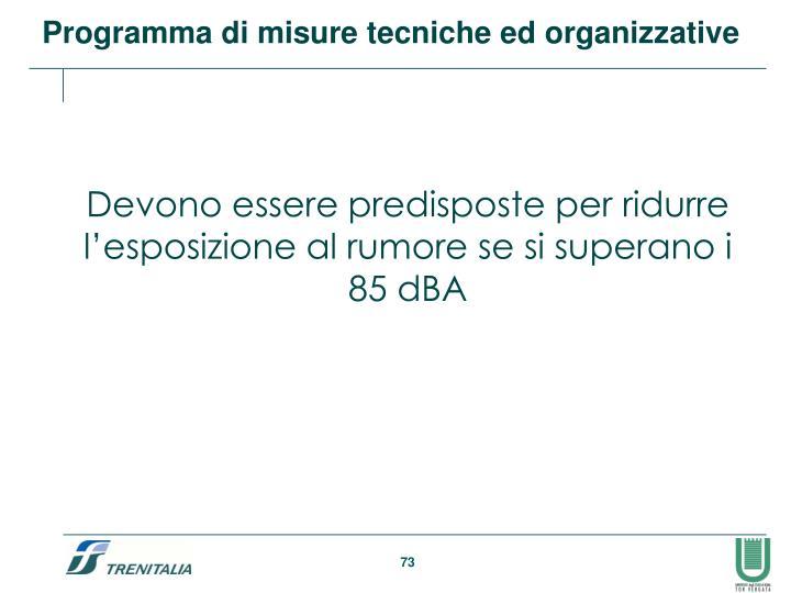 Programma di misure tecniche ed organizzative
