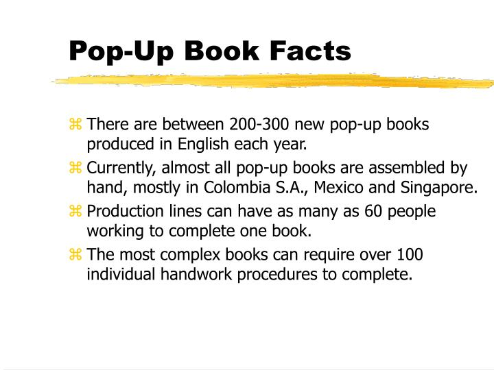 Pop-Up Book Facts