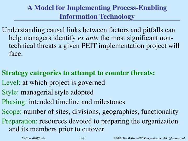 A Model for Implementing Process-Enabling