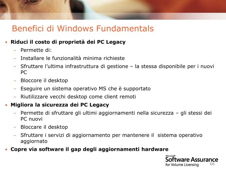 Benefici di Windows Fundamentals