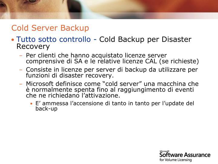 Cold Server Backup