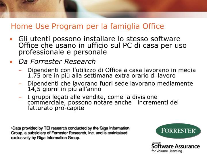Home Use Program per la famiglia Office