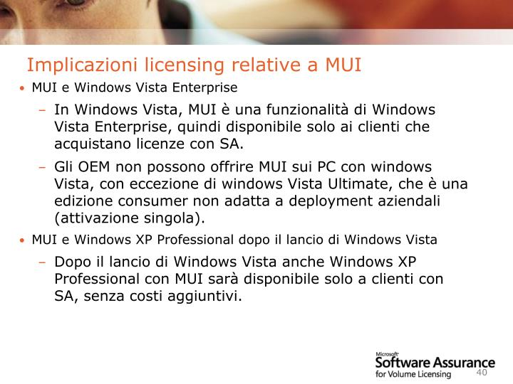 Implicazioni licensing relative a MUI