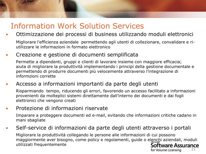 Information Work Solution Services