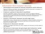 information work solution services