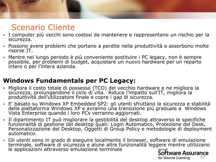 Scenario Cliente