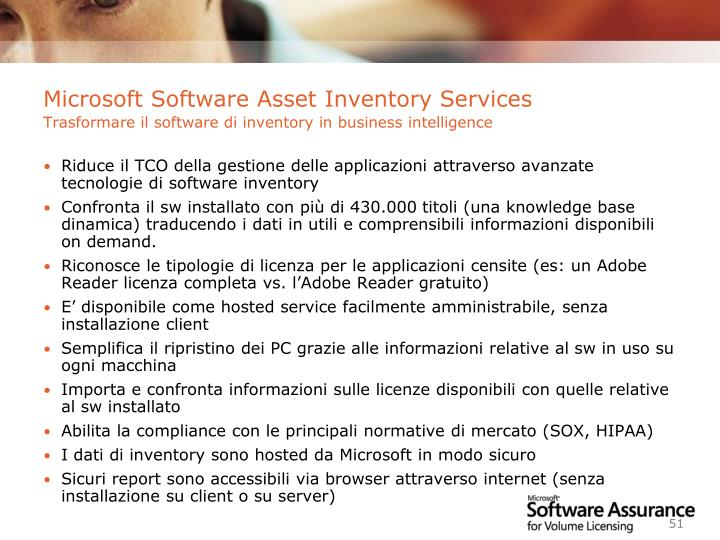 Microsoft Software Asset Inventory Services