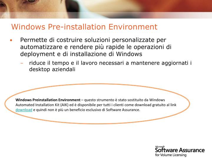Windows Pre-installation Environment