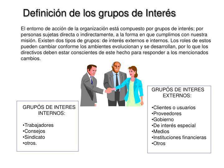 Definición de los grupos de Interés