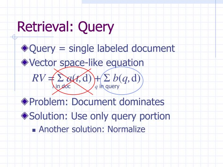 Retrieval: Query