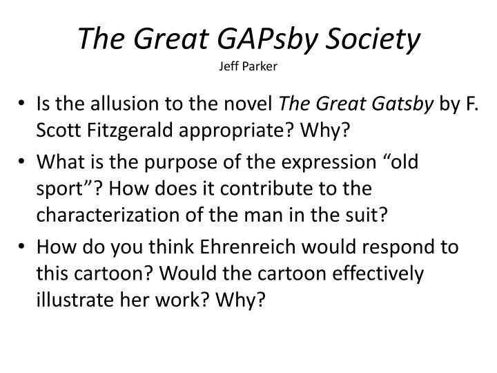 the presentation of the working class in the great gatsby a novel by f scott fitzgerald F scott fitzgerald's the great gatsby  download presentation f scott fitzgerald s the great gatsby - powerpoint ppt  represents the exploited working class.