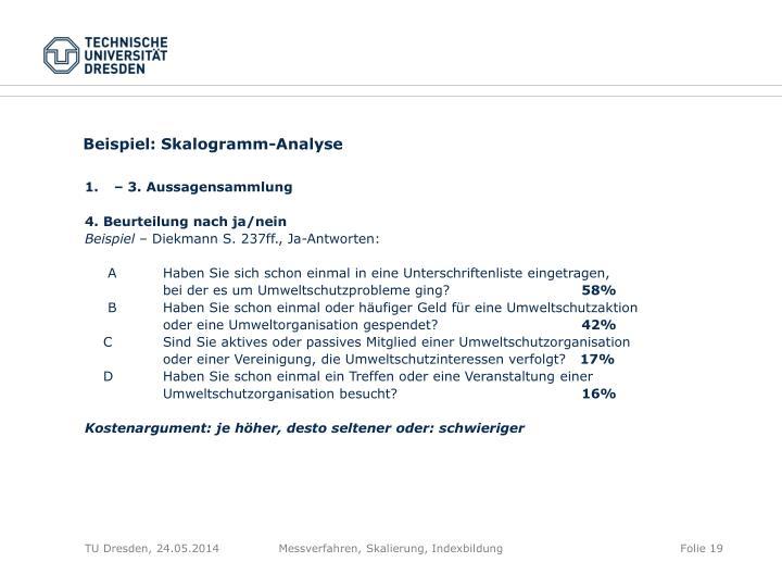 Beispiel: Skalogramm-Analyse