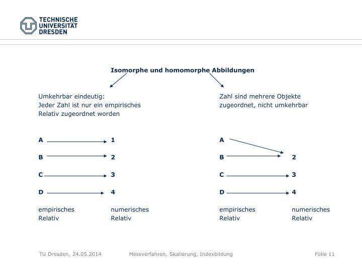 Isomorphe und homomorphe Abbildungen