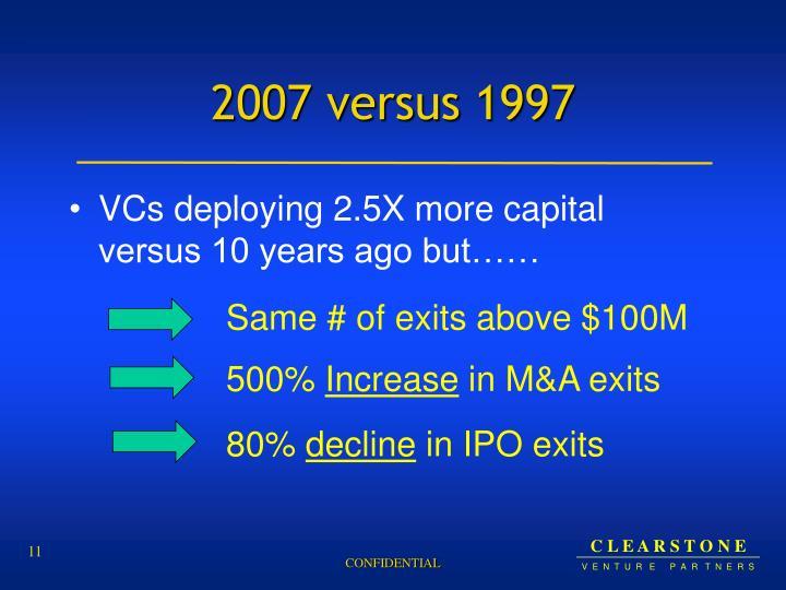 2007 versus 1997