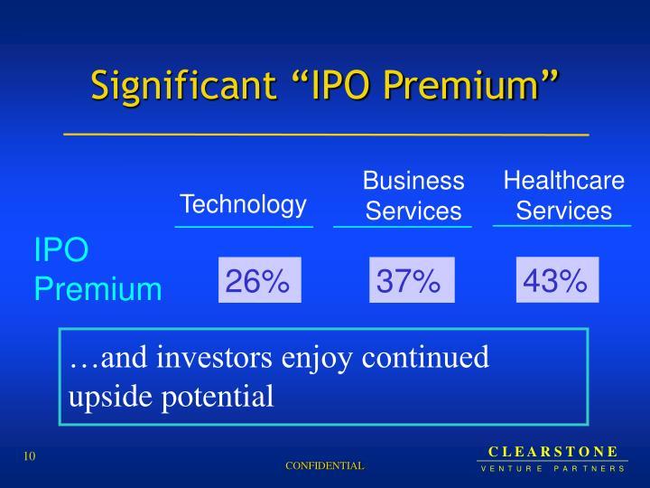 """Significant """"IPO Premium"""""""