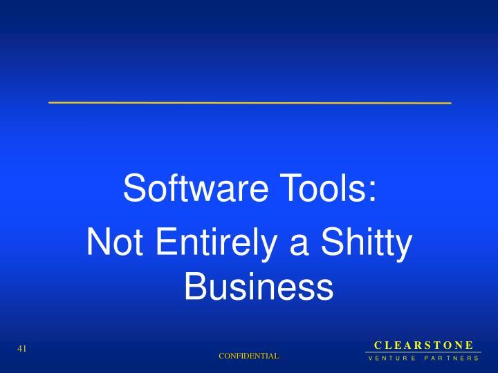Software Tools: