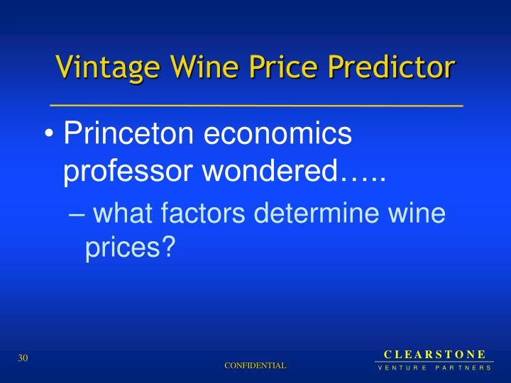 Vintage Wine Price Predictor