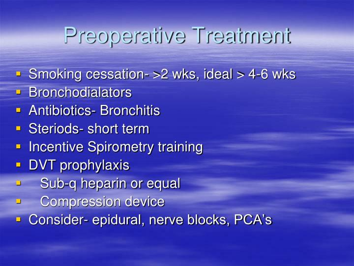 Preoperative Treatment