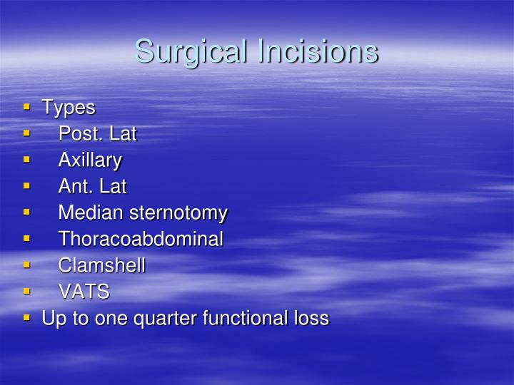 Surgical Incisions