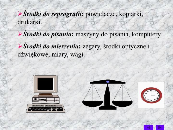 Środki do reprografii