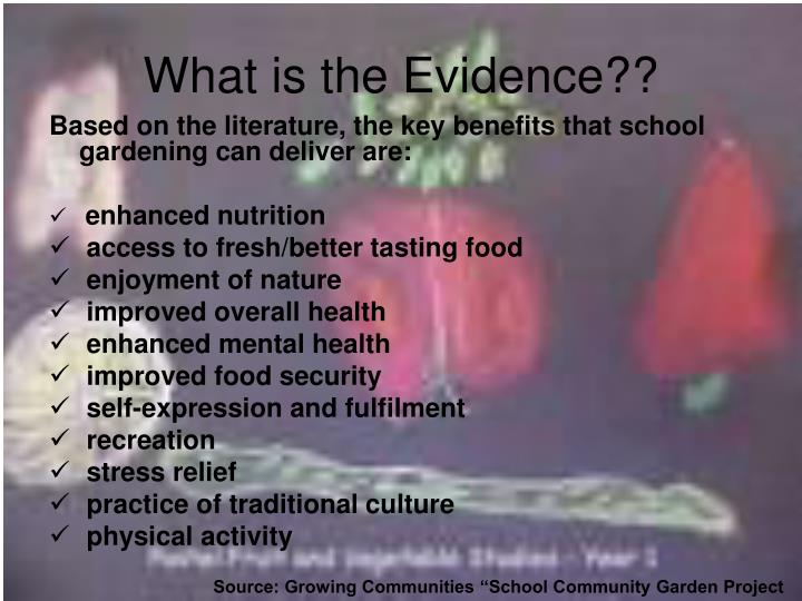 What is the Evidence??