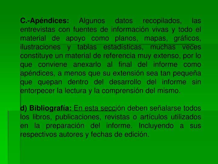 C.-Apéndices: