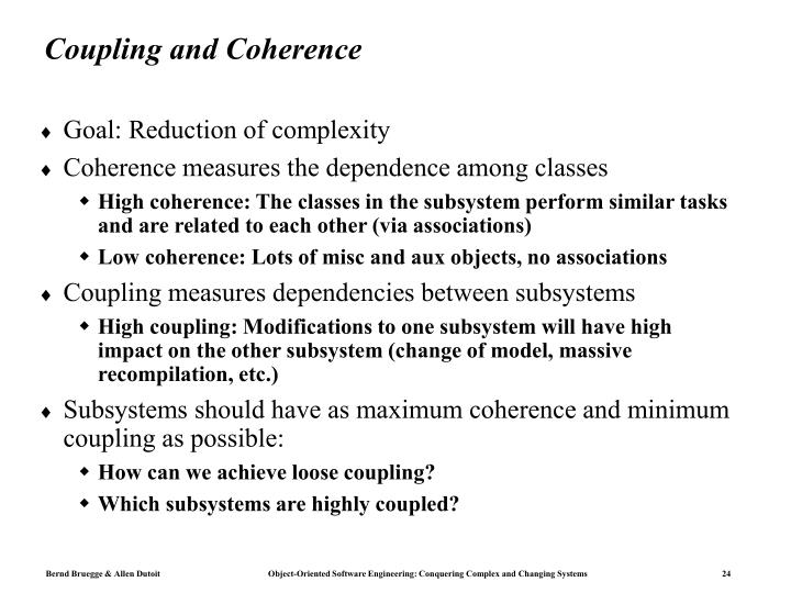 Coupling and Coherence