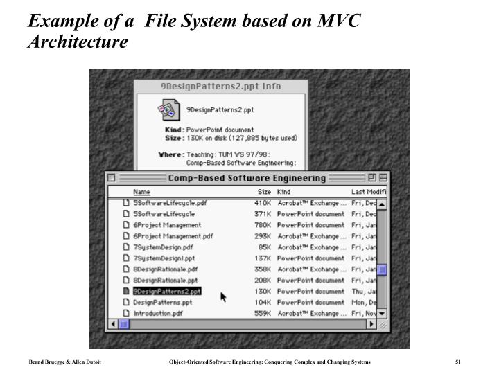 Example of a  File System based on MVC Architecture
