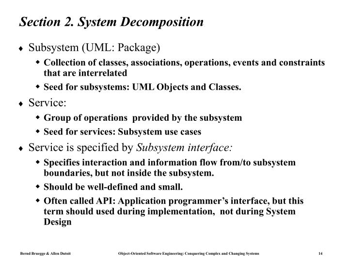 Section 2. System Decomposition