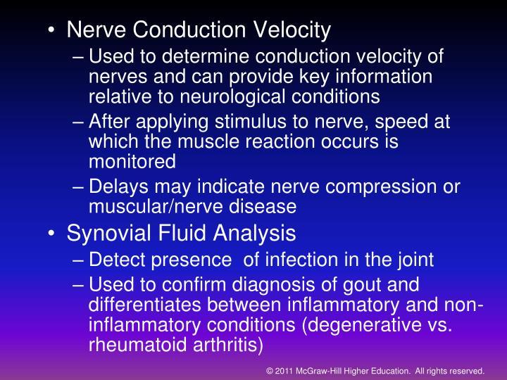 Nerve Conduction Velocity