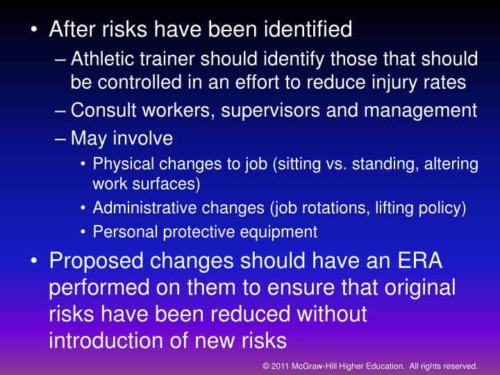 After risks have been identified