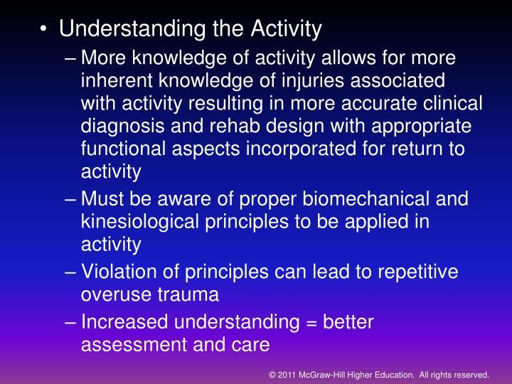 Understanding the Activity