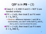 qbf is in ps 3