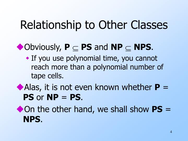 Relationship to Other Classes